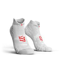 COMPRESSPORT Racing Socks V3.0 Run Low White Red